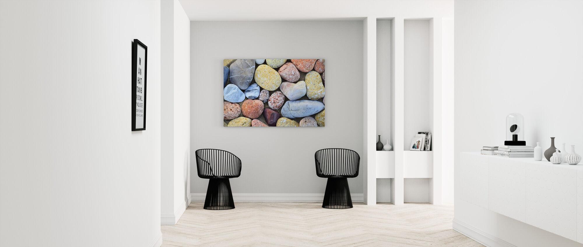 Colorful Stones - Canvas print - Hallway