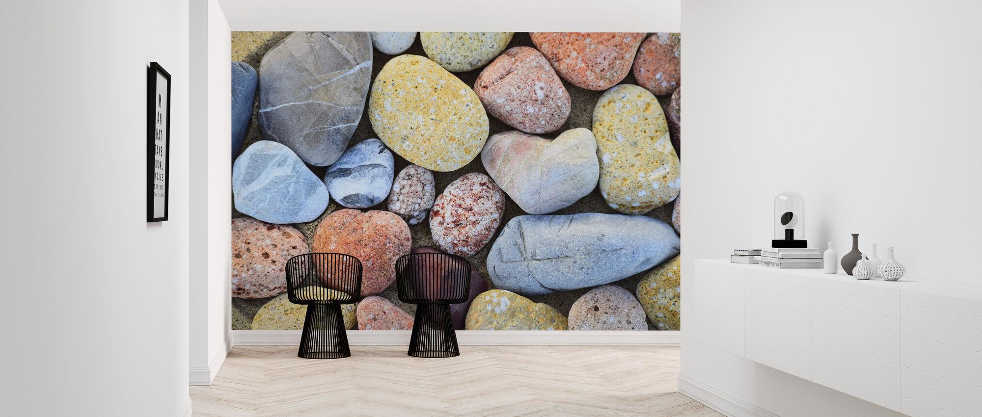 Kleurrijke stenen - Behang - Gang