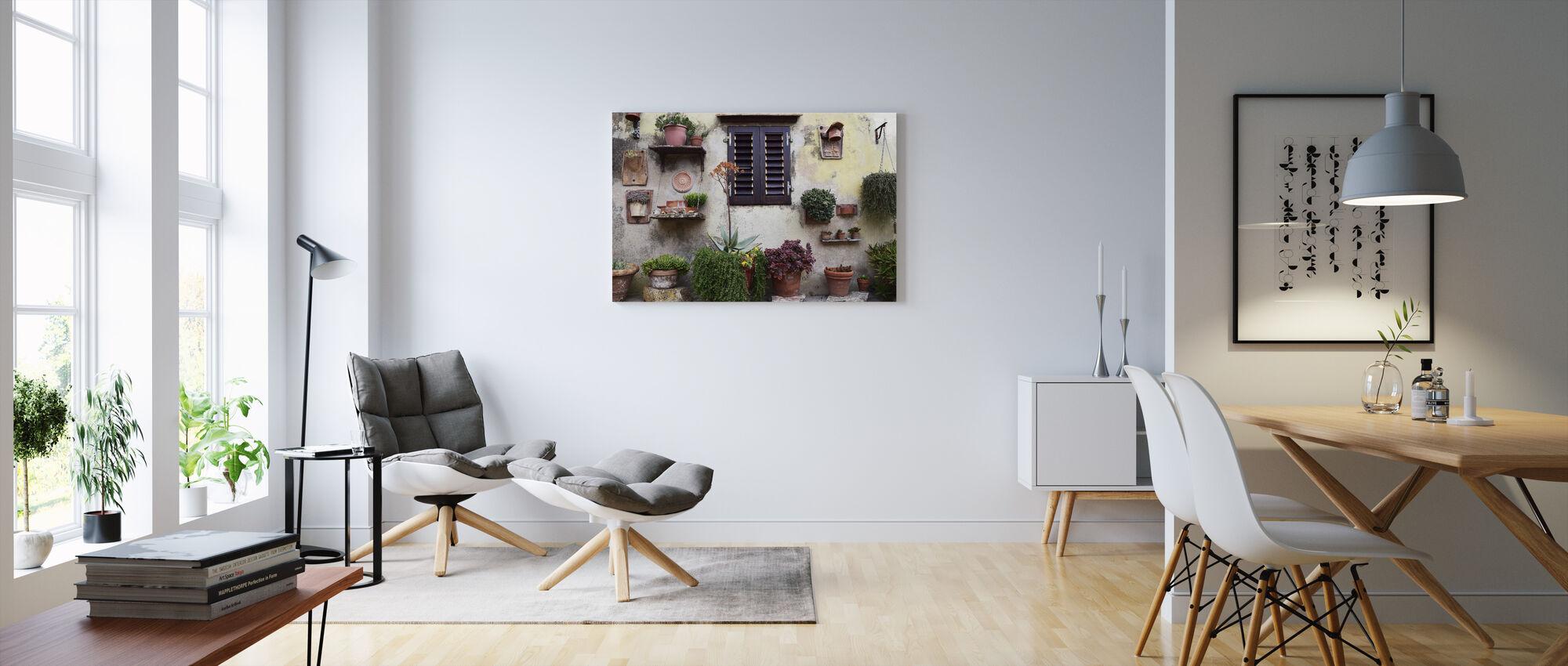 Bakgård blomma samling - Canvastavla - Vardagsrum