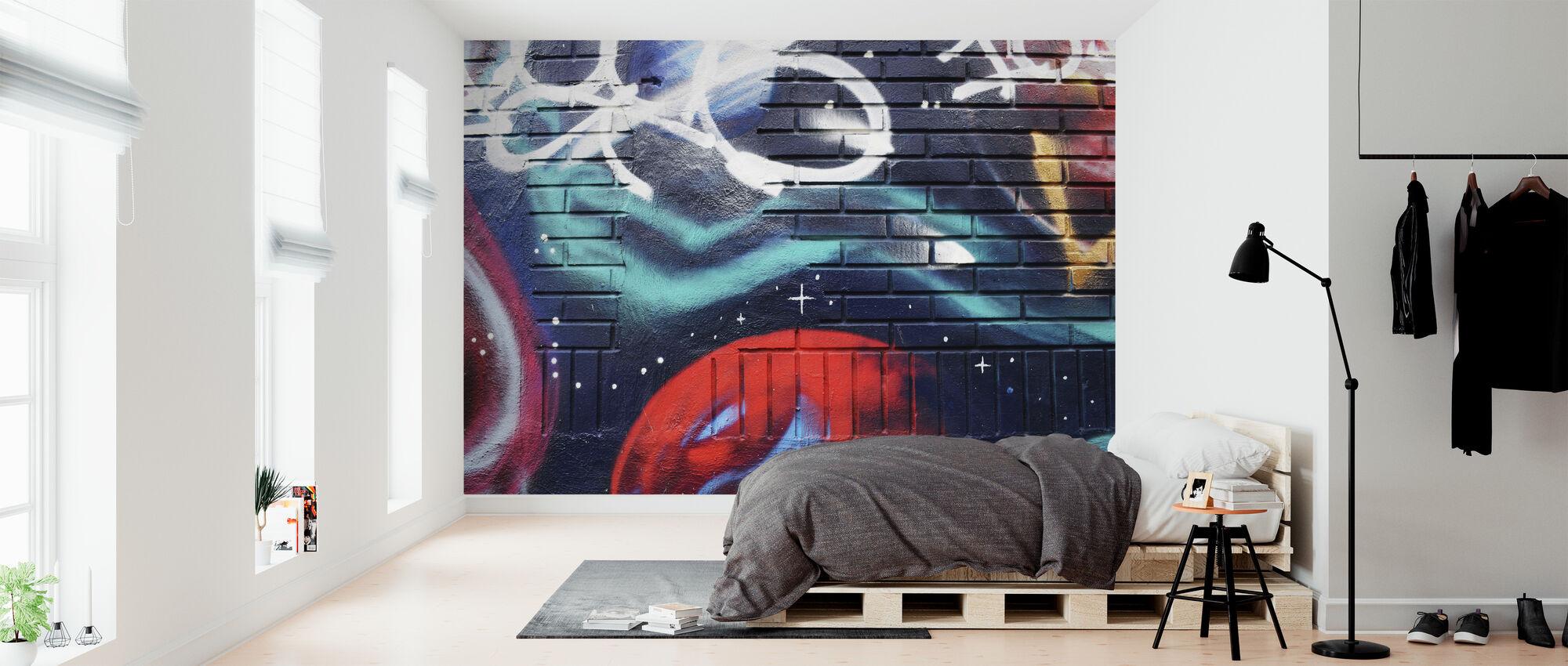 Dark Wall Graffiti - Wallpaper - Bedroom