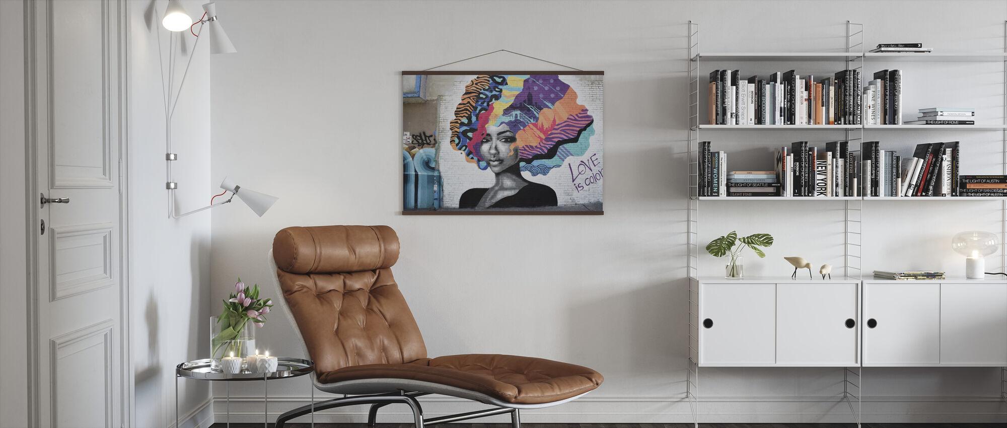 Woman Graffiti - Poster - Living Room