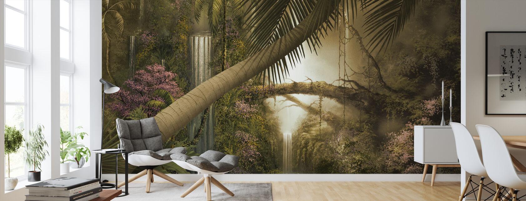 Jungle Falls - Wallpaper - Living Room
