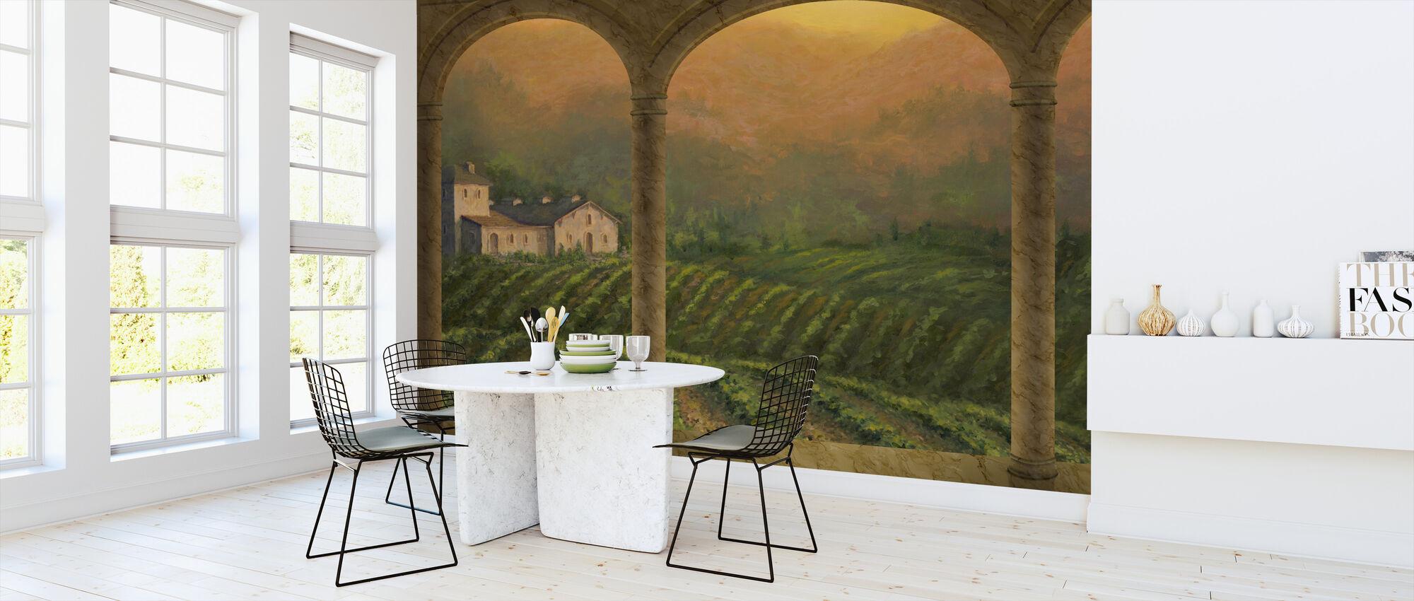 Toscaanse boog - Behang - Keuken