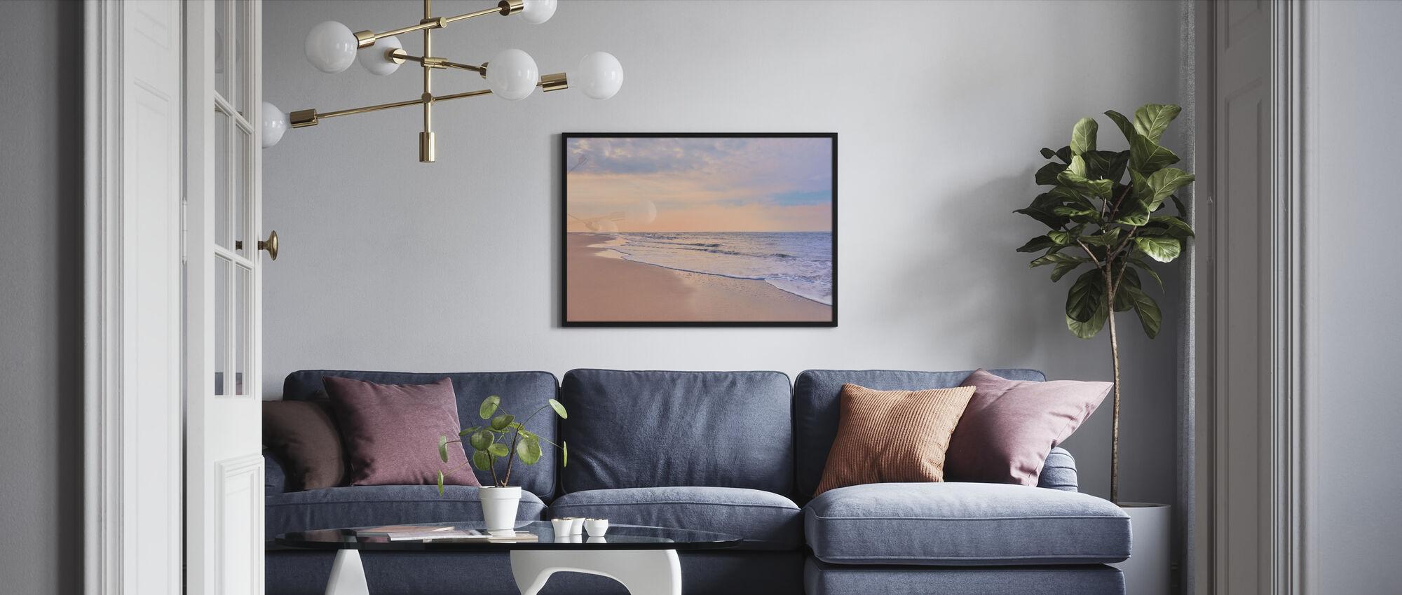 Beach at Dawn - Framed print - Living Room