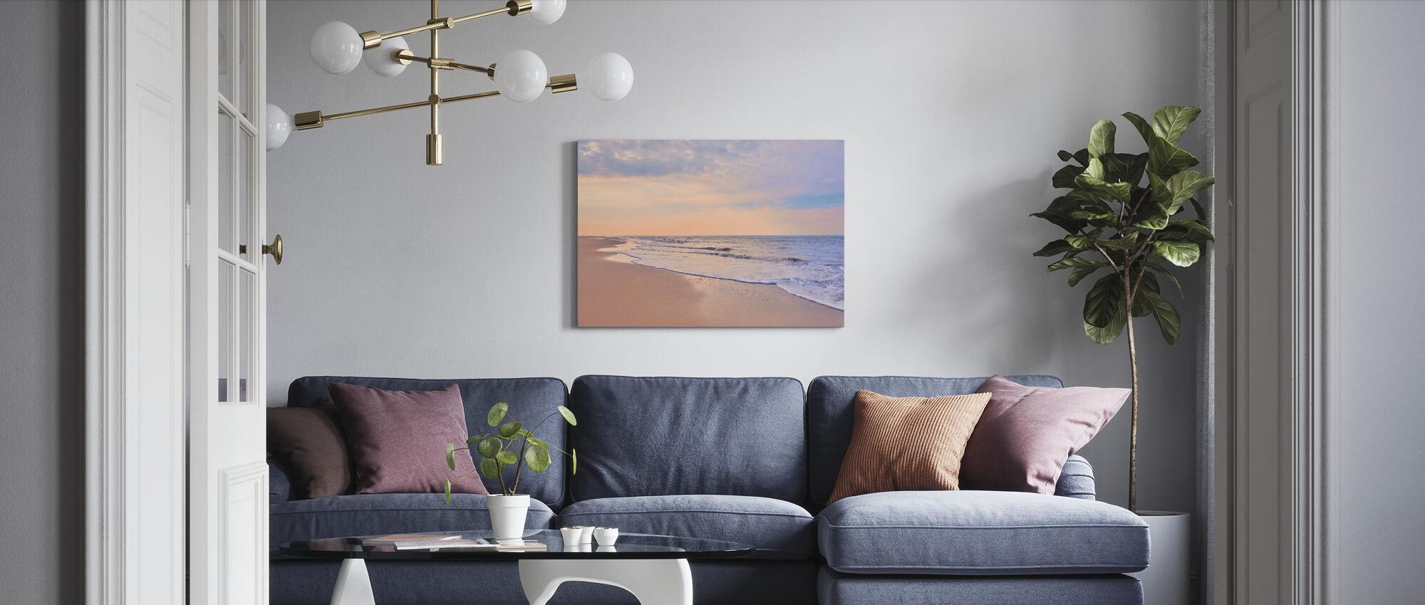 Beach at Dawn - Canvas print - Living Room