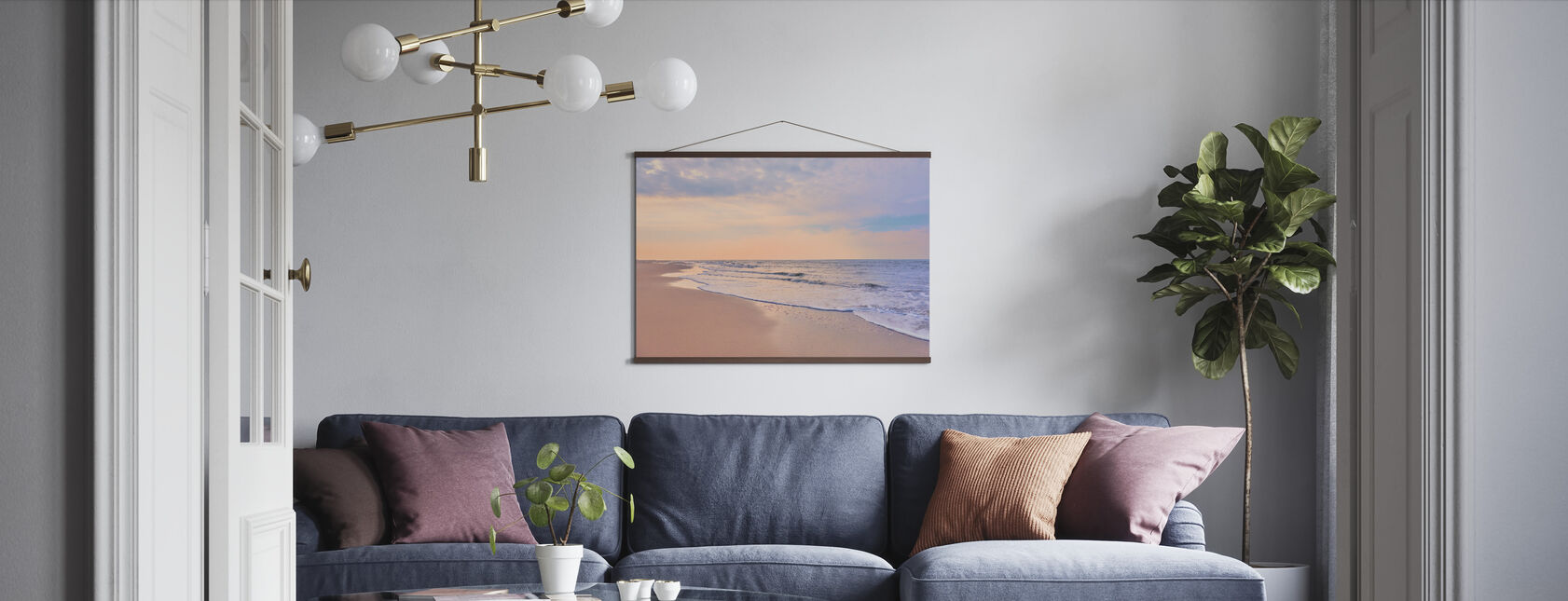 Beach at Dawn - Poster - Living Room