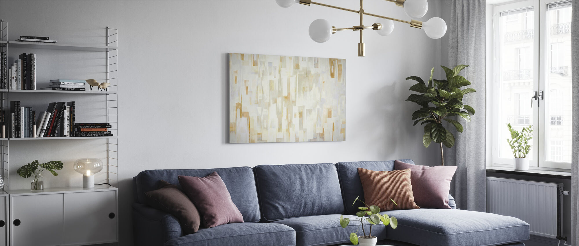 Mediterranean Villages Bright - Canvas print - Living Room