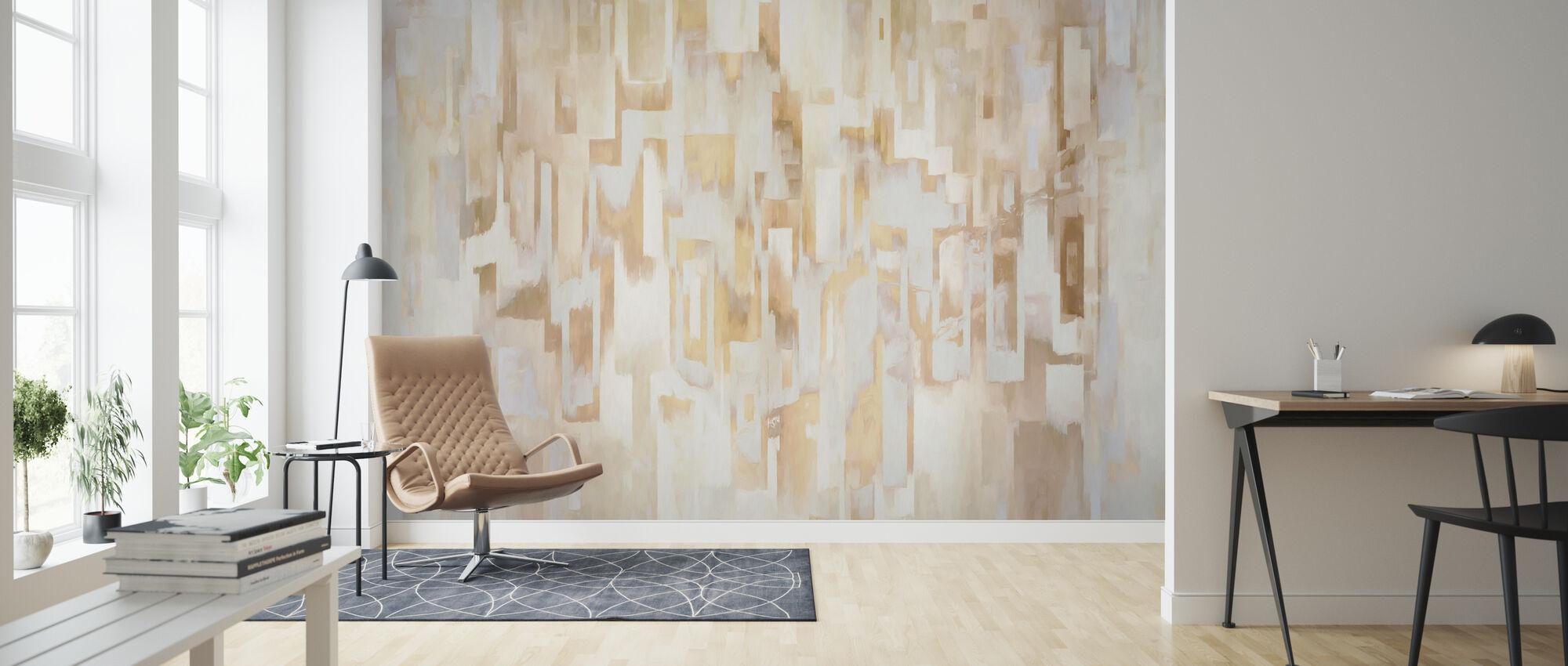 Mediterranean Villages Warm - Wallpaper - Living Room