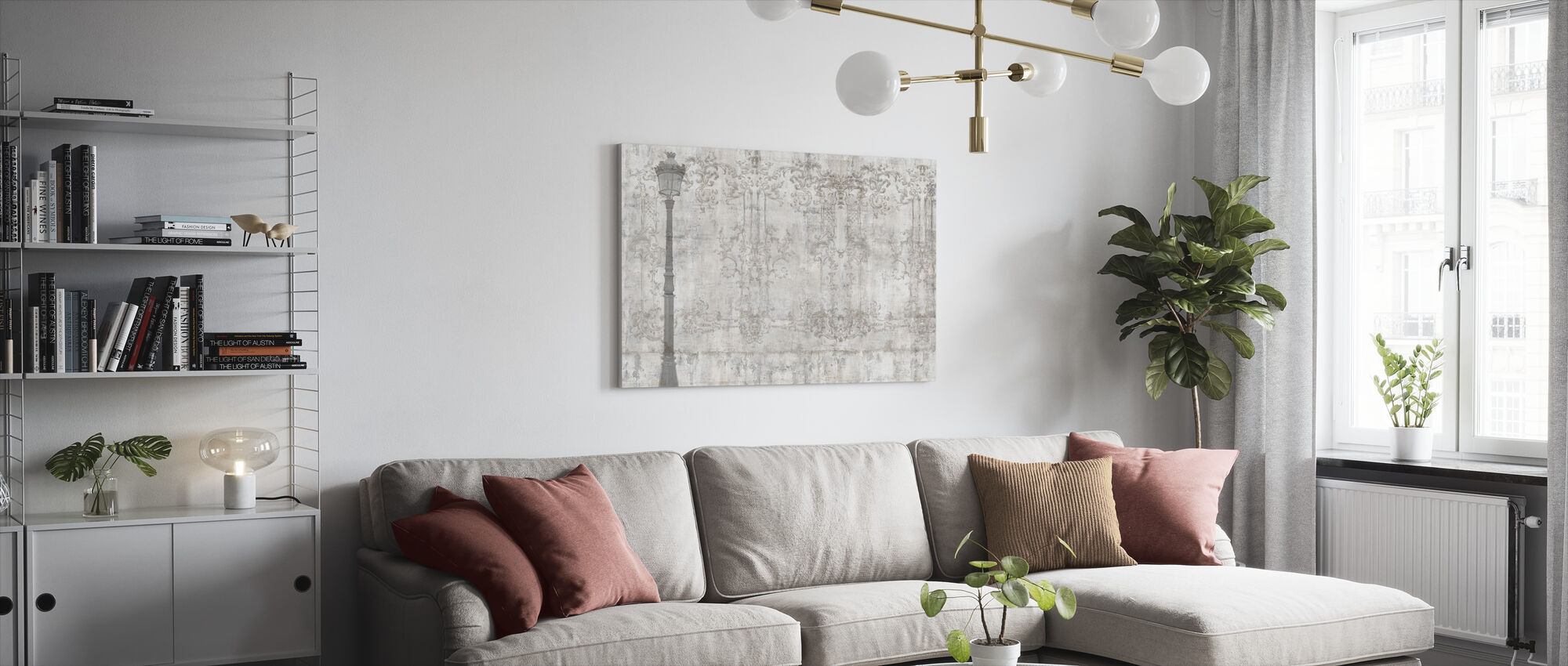 Reminiscence Series Lightpost - Canvas print - Living Room