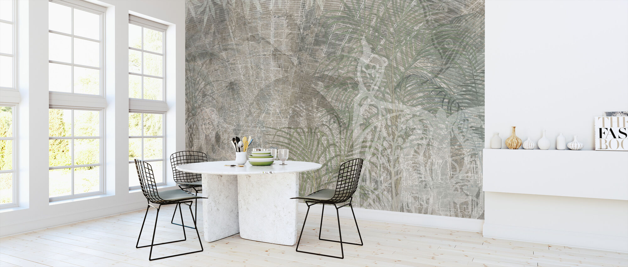 Reminiscence Series Palm Trees - Wallpaper - Kitchen