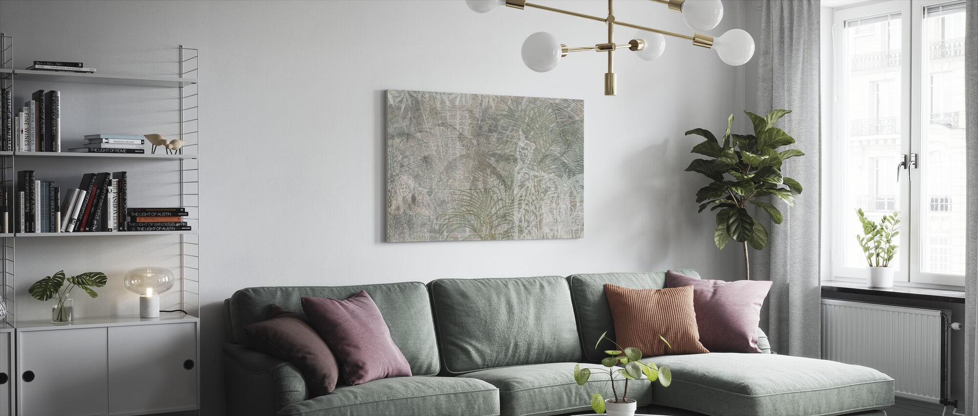 Herinneringen Series Palmbomen - Canvas print - Woonkamer