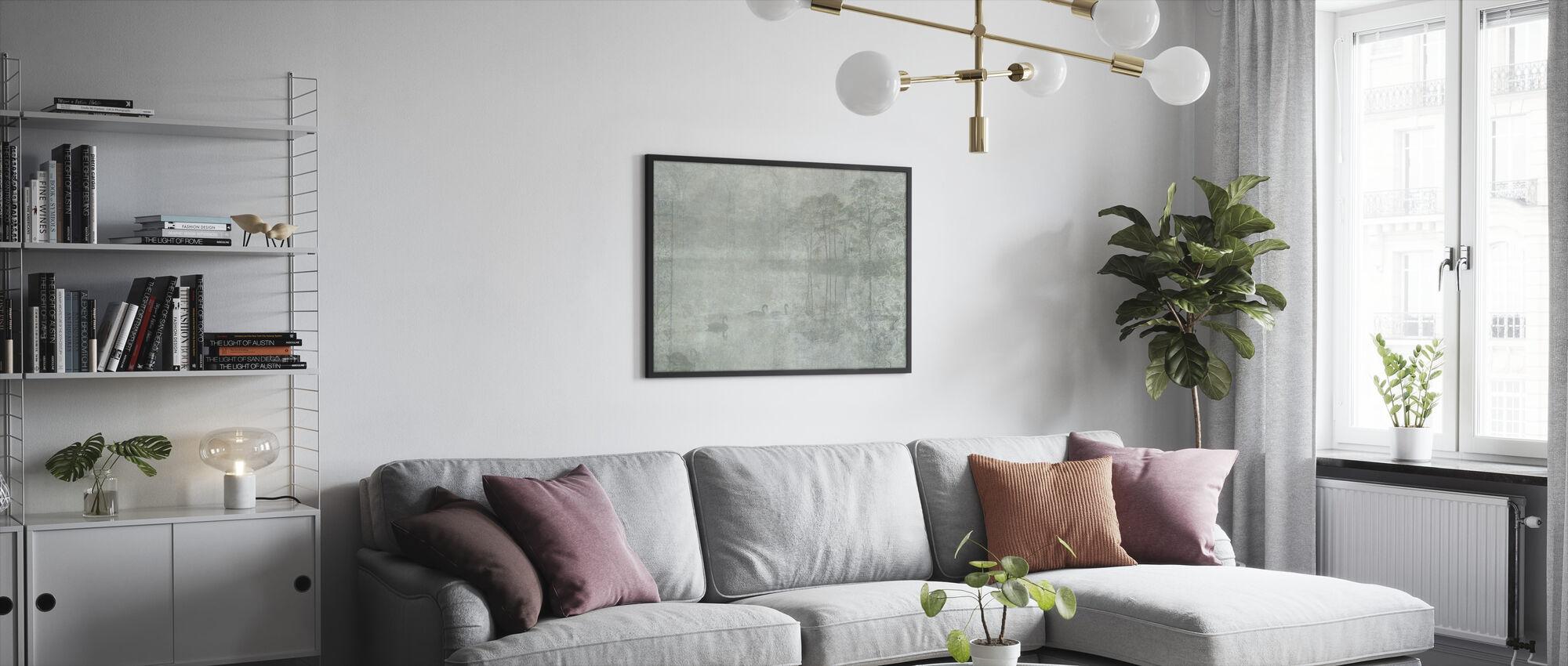 Reminiscence Series Swan - Framed print - Living Room