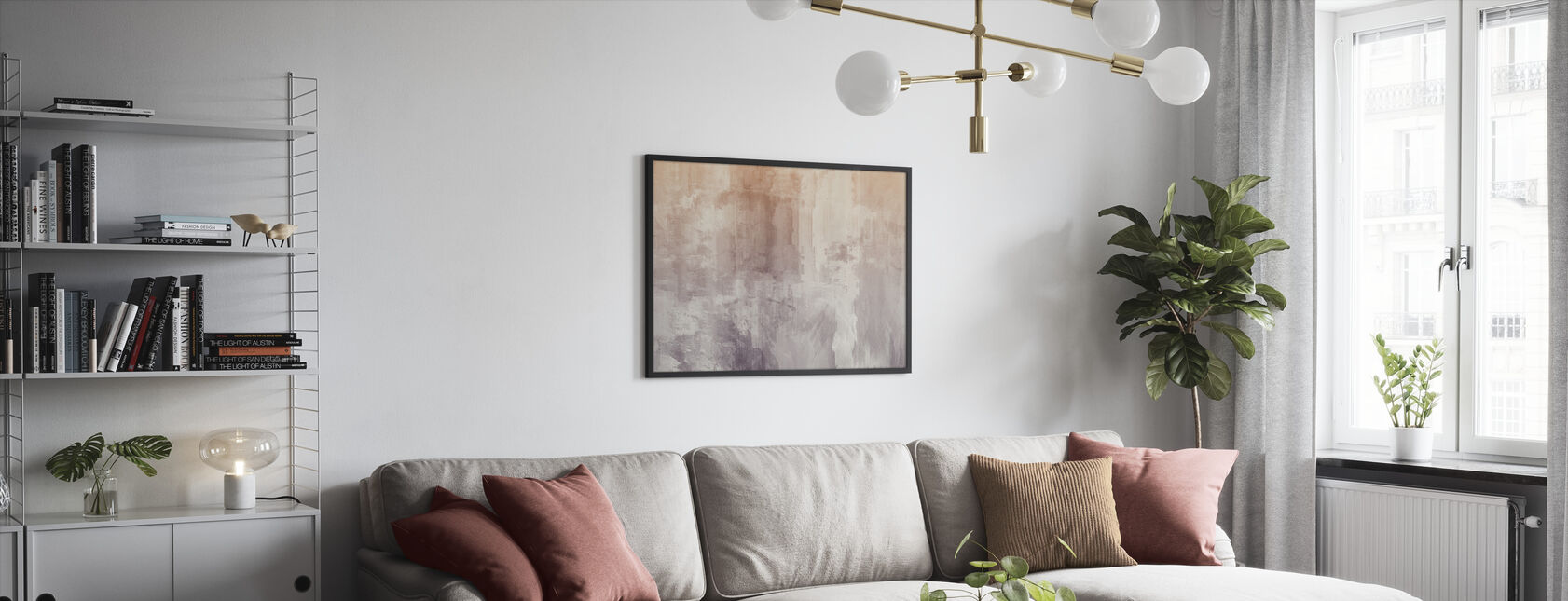 Acuarelas rugosas - Print enmarcado - Salón