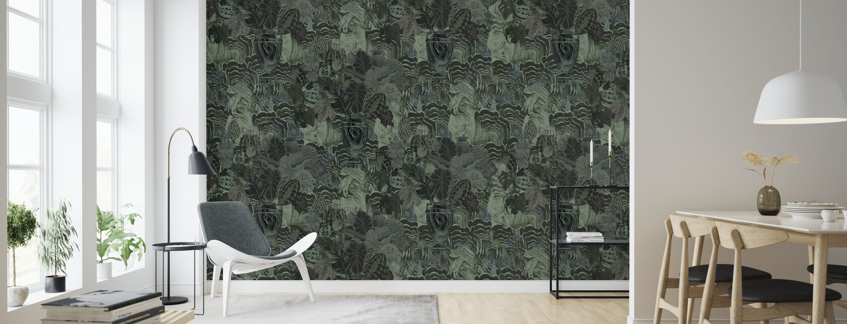Emerald Moss - Wallpaper - Living Room