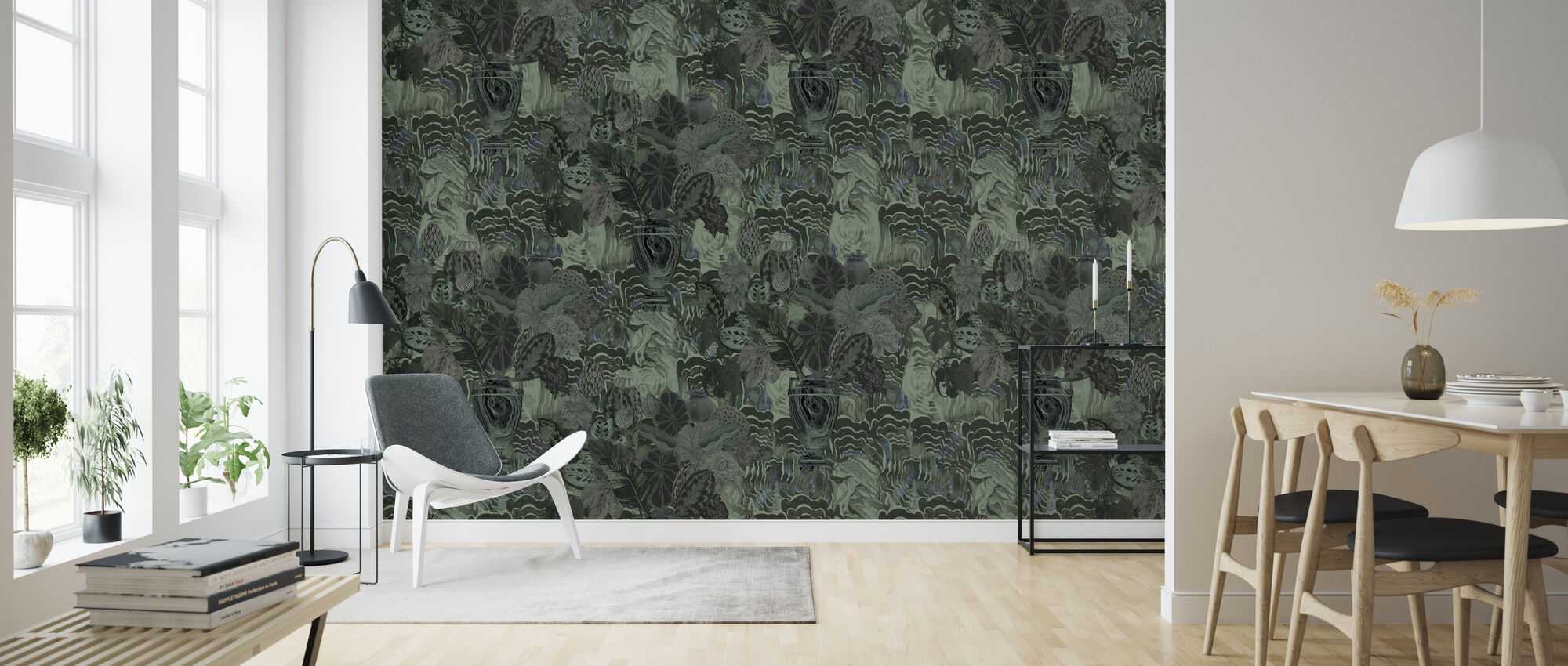 Emerald Moss - Wallpaper - Living Room