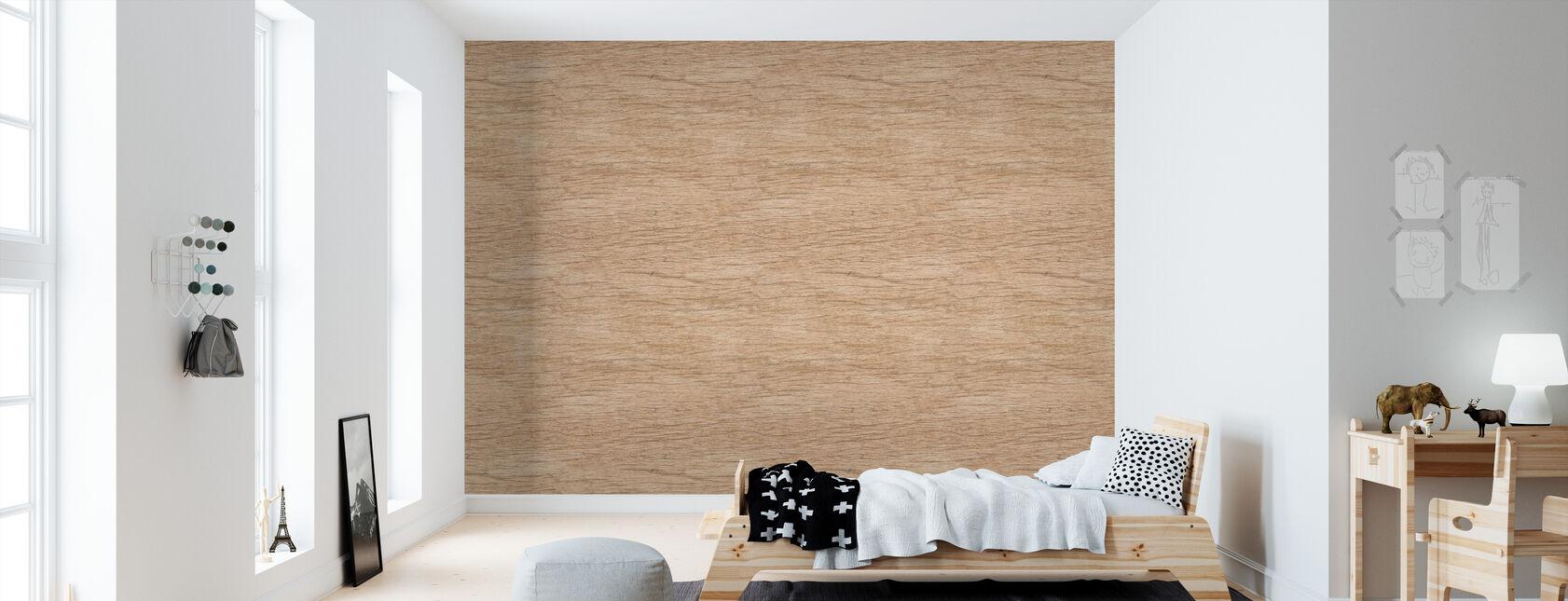Baan Tawai hout textuur - Behang - Kinderkamer