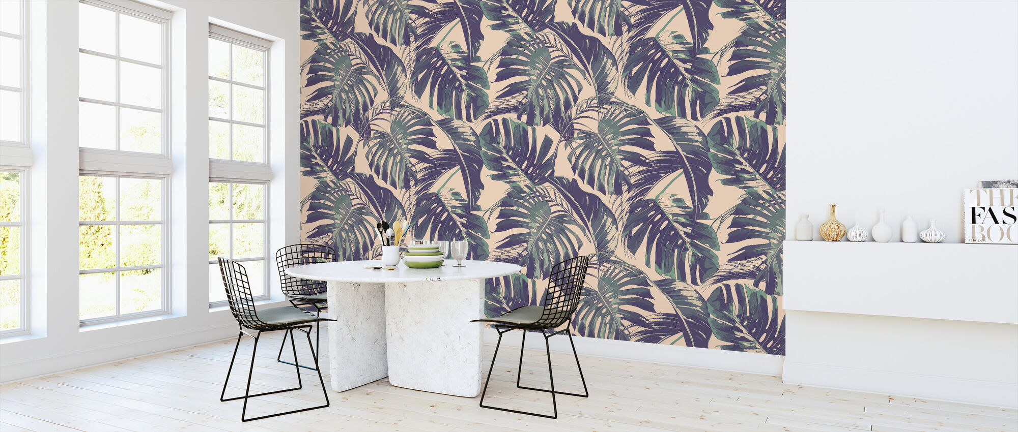 Tropical Jungle Leaves - Wallpaper - Kitchen