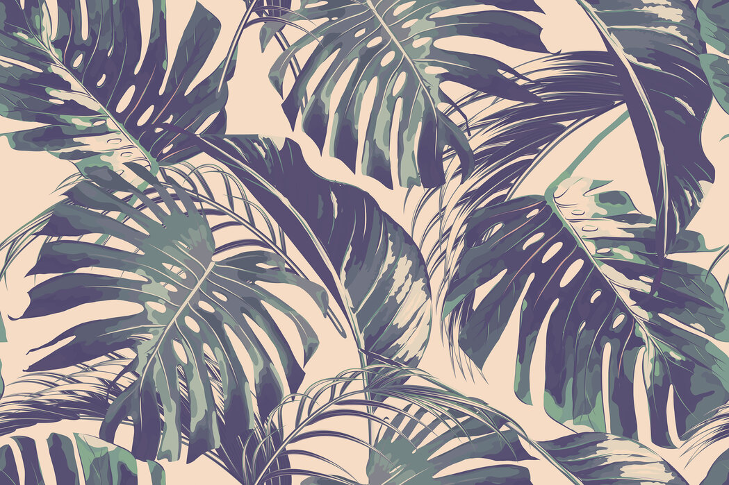 Tropical Jungle Leaves Custom Wallpaper Photowall Support us by sharing the content, upvoting wallpapers on the page or sending your own background pictures. photowall