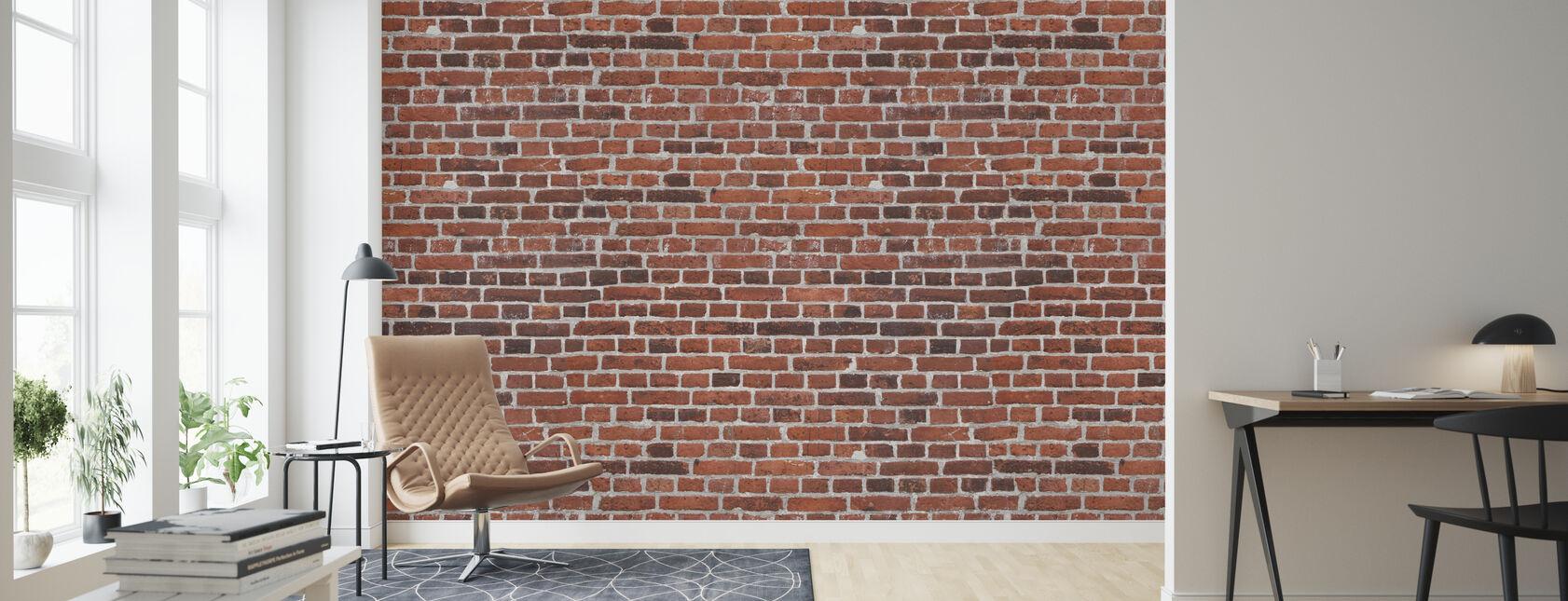 Grafeld bakstenen muur - Behang - Woonkamer