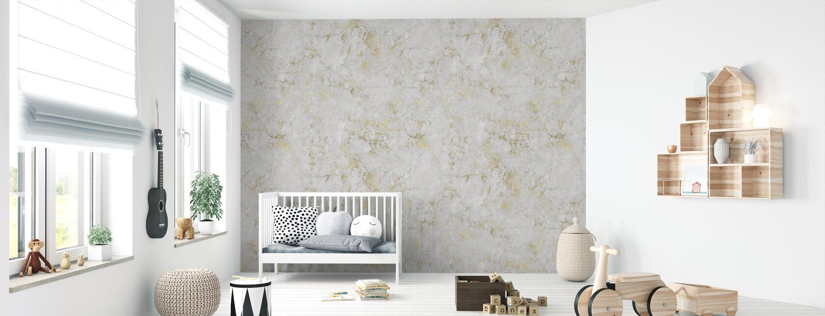 Marmor Jerusalem Gold - Tapete - Babyzimmer