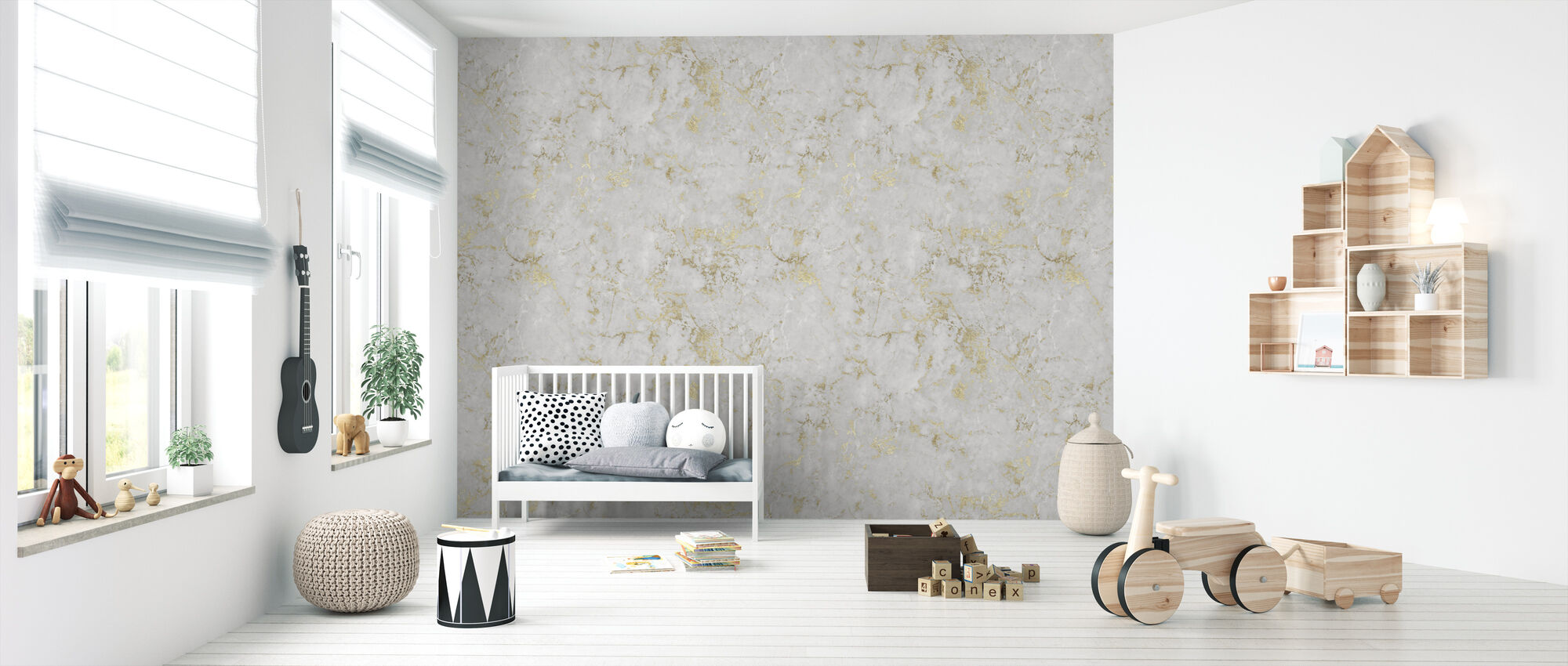 Marble Jerusalem Gold - Wallpaper - Nursery