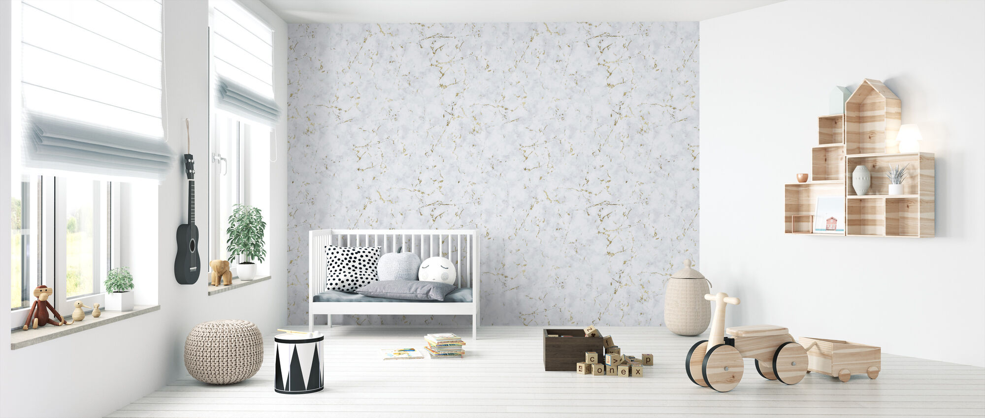 Marble Spanish Gold - Wallpaper - Nursery