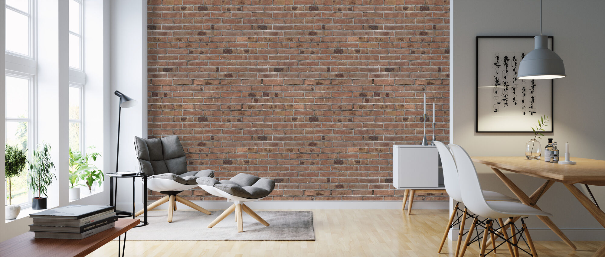 Spotted Brick Wall - Wallpaper - Living Room