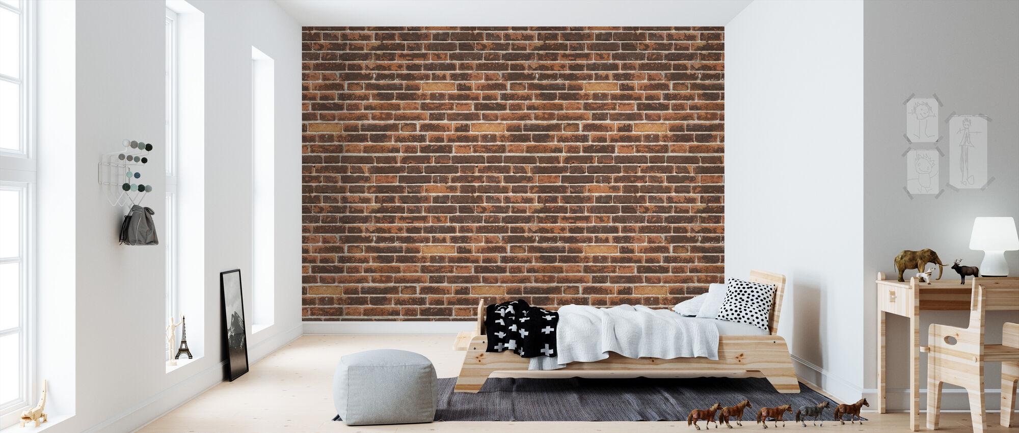 Versleten en vuile bakstenen muur - Behang - Kinderkamer