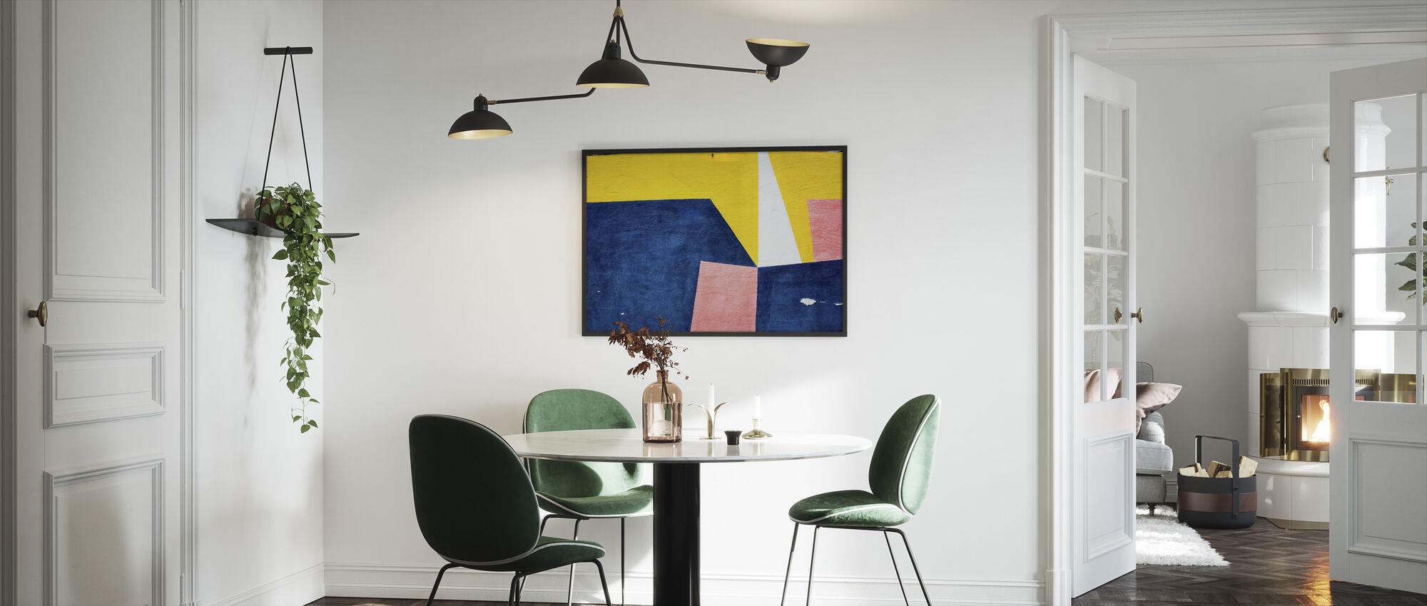 Farverig vægkunst - Indrammet billede - Køkken