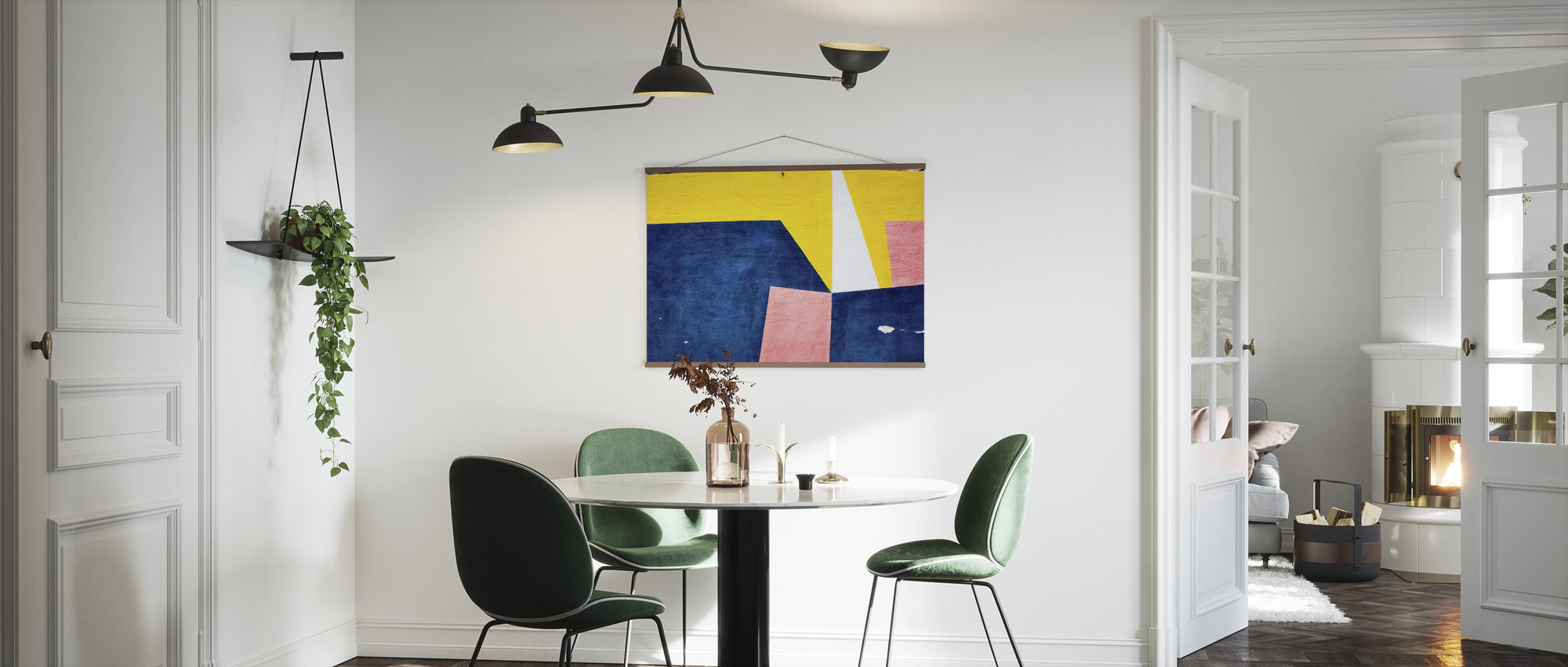 Farverig vægkunst - Plakat - Køkken