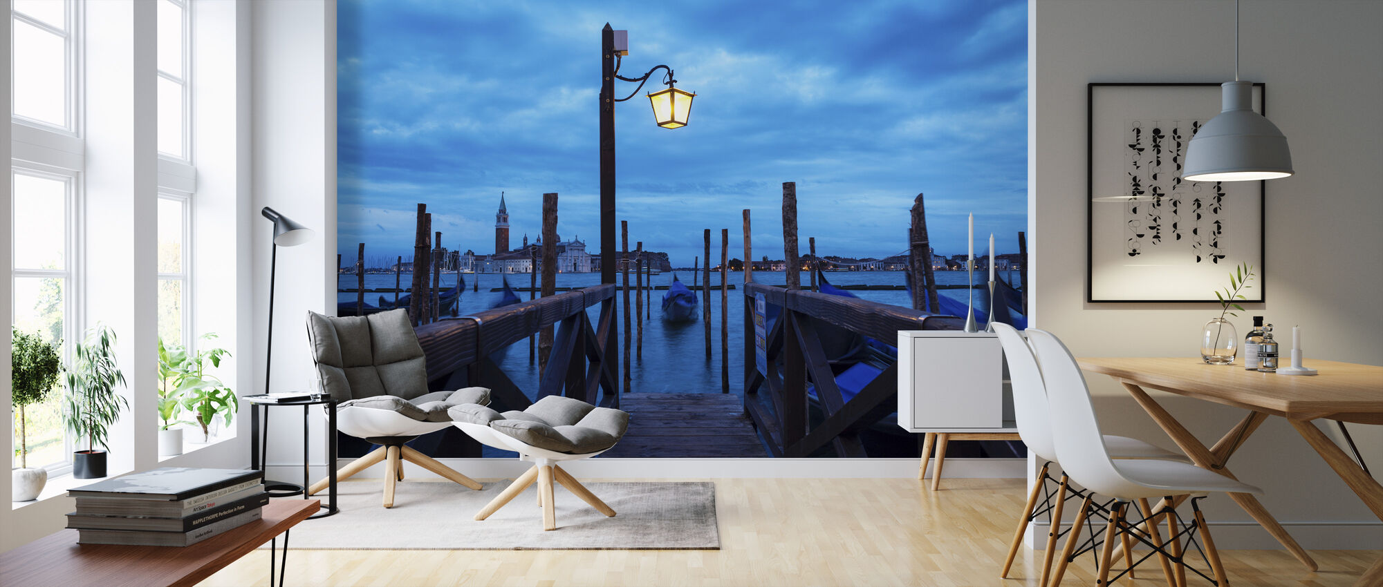 Venice Italy Pier - Wallpaper - Living Room