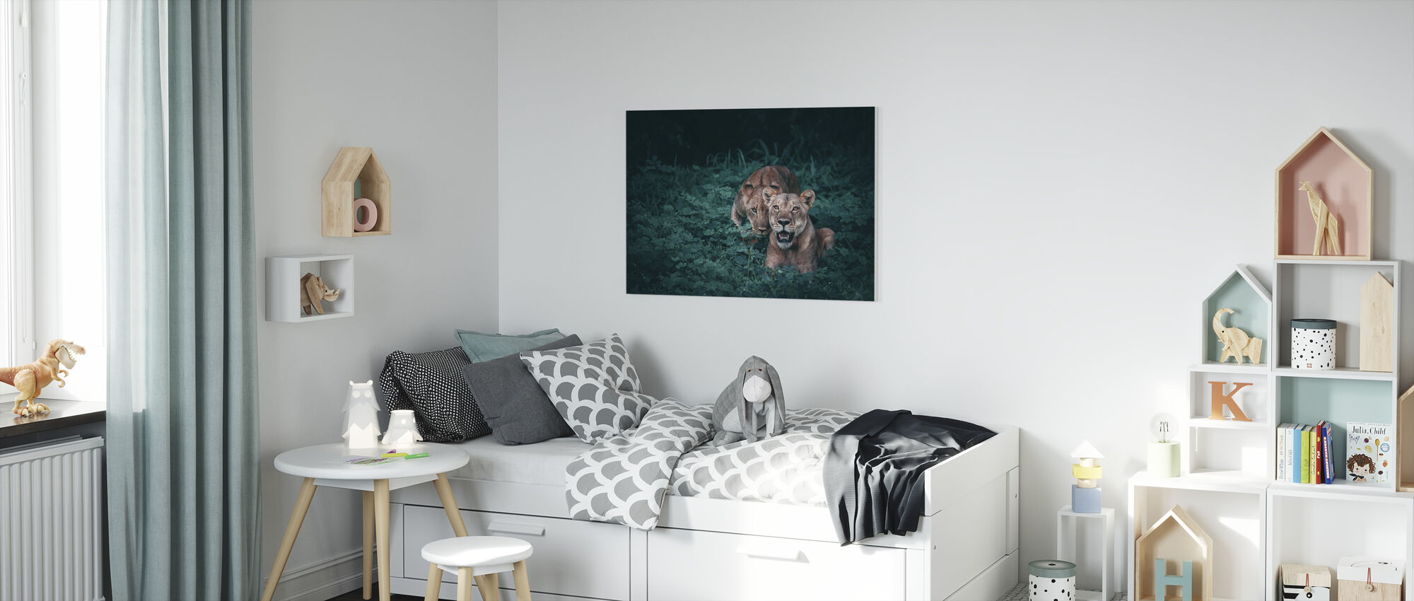 Mother and her Cub - Canvas print - Kids Room
