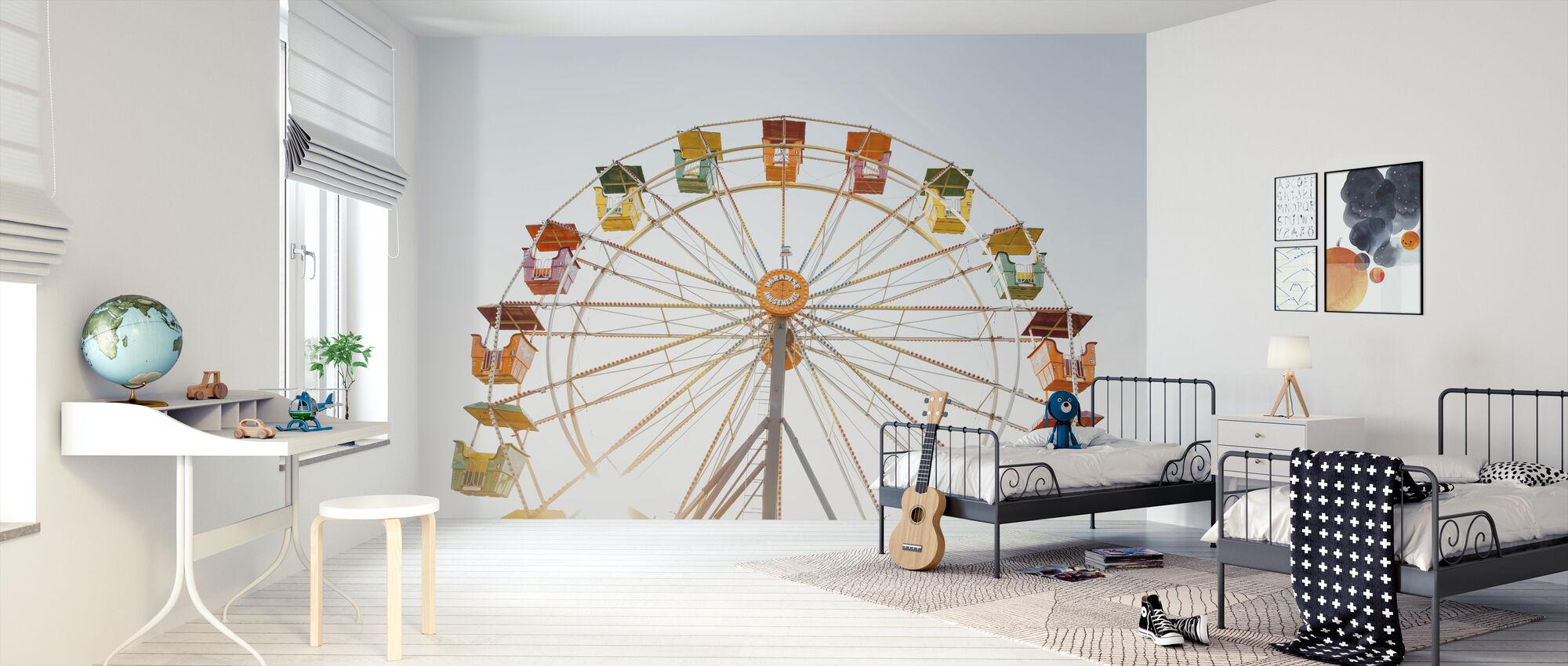 Amusement Park Ferris Wheel - Wallpaper - Kids Room