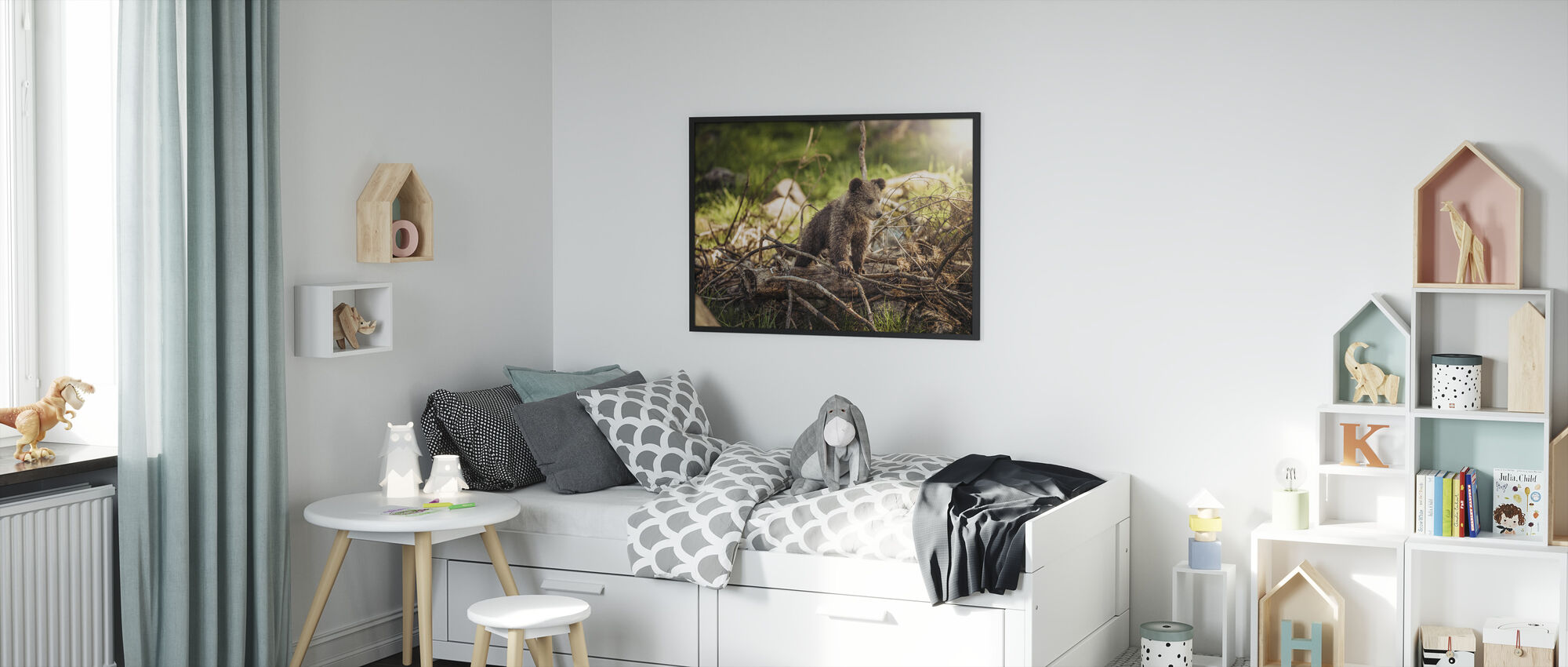 Cub in the Woods - Framed print - Kids Room