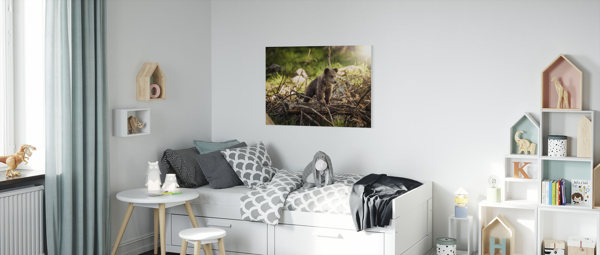 Cub in the Woods - Canvas print - Kids Room