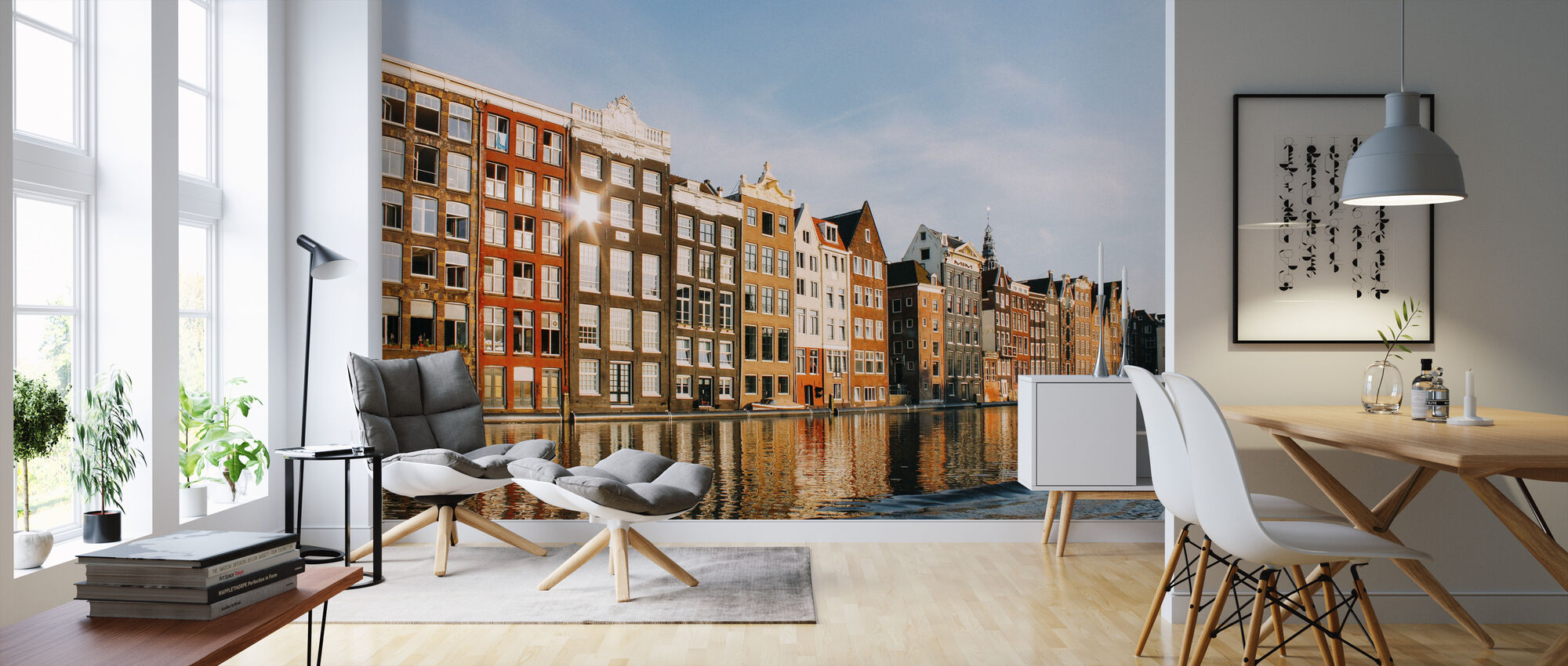 Amsterdam Buildings - Wallpaper - Living Room