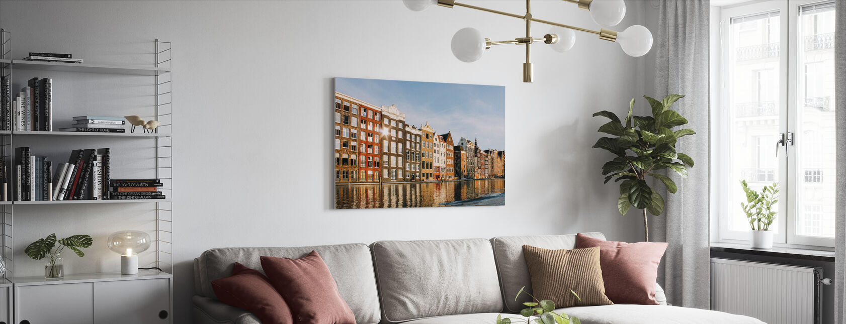 Amsterdam Buildings - Canvas print - Living Room