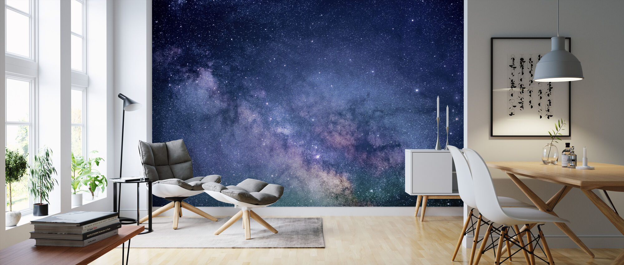 Galaxy Stjärnor - Tapet - Vardagsrum