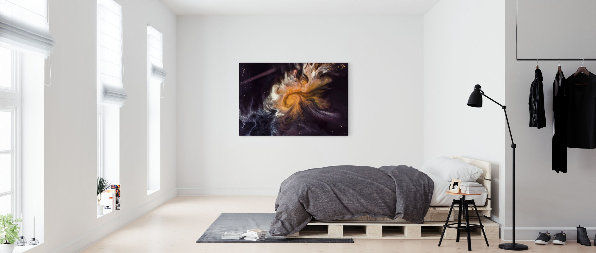 Space Story - Canvas print - Bedroom