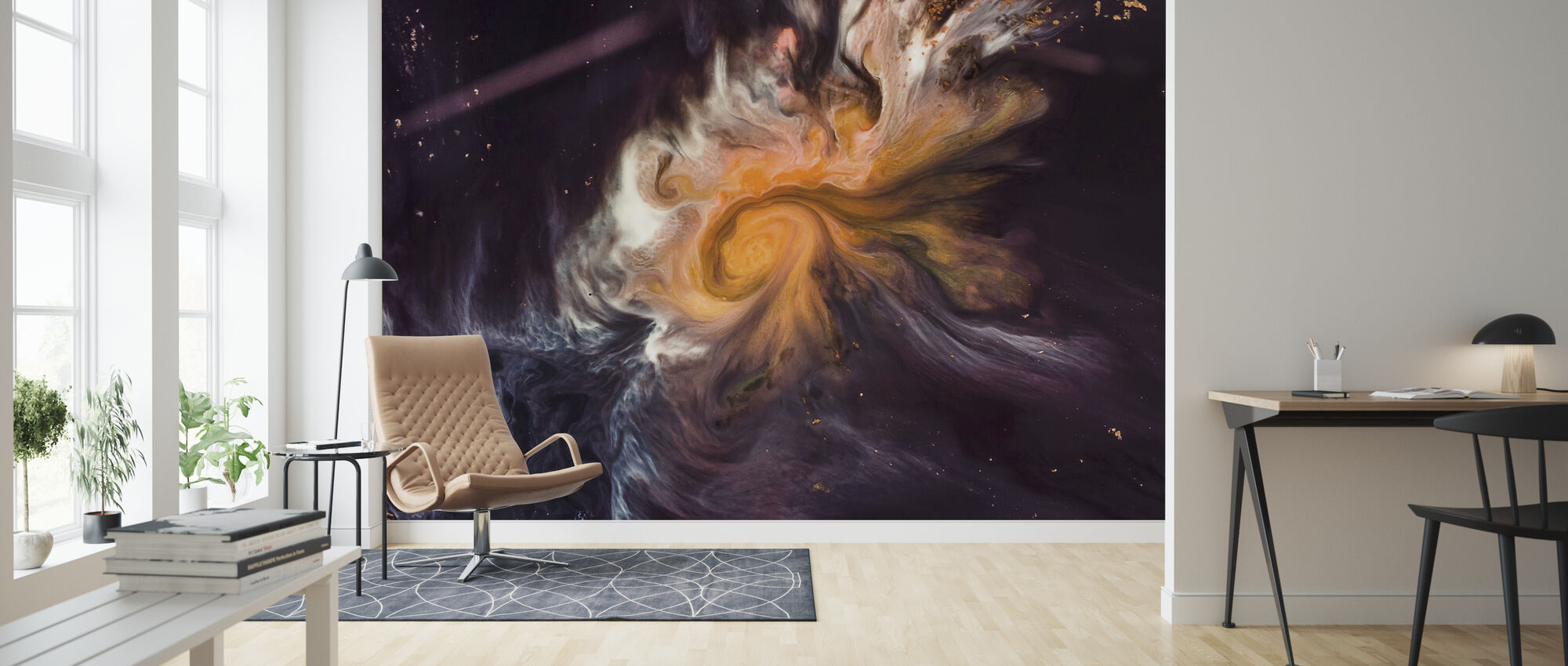 Space Story - Wallpaper - Living Room
