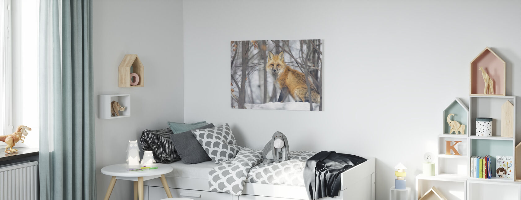 Red Fox - Canvas print - Kids Room