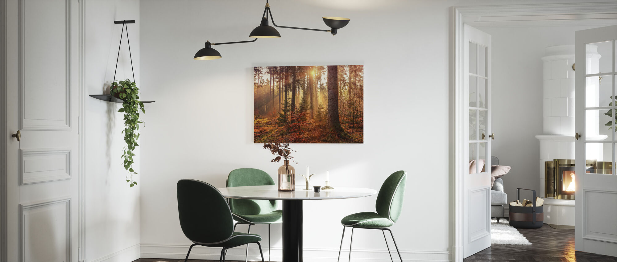 Mystery Forest Light - Canvastaulu - Keittiö