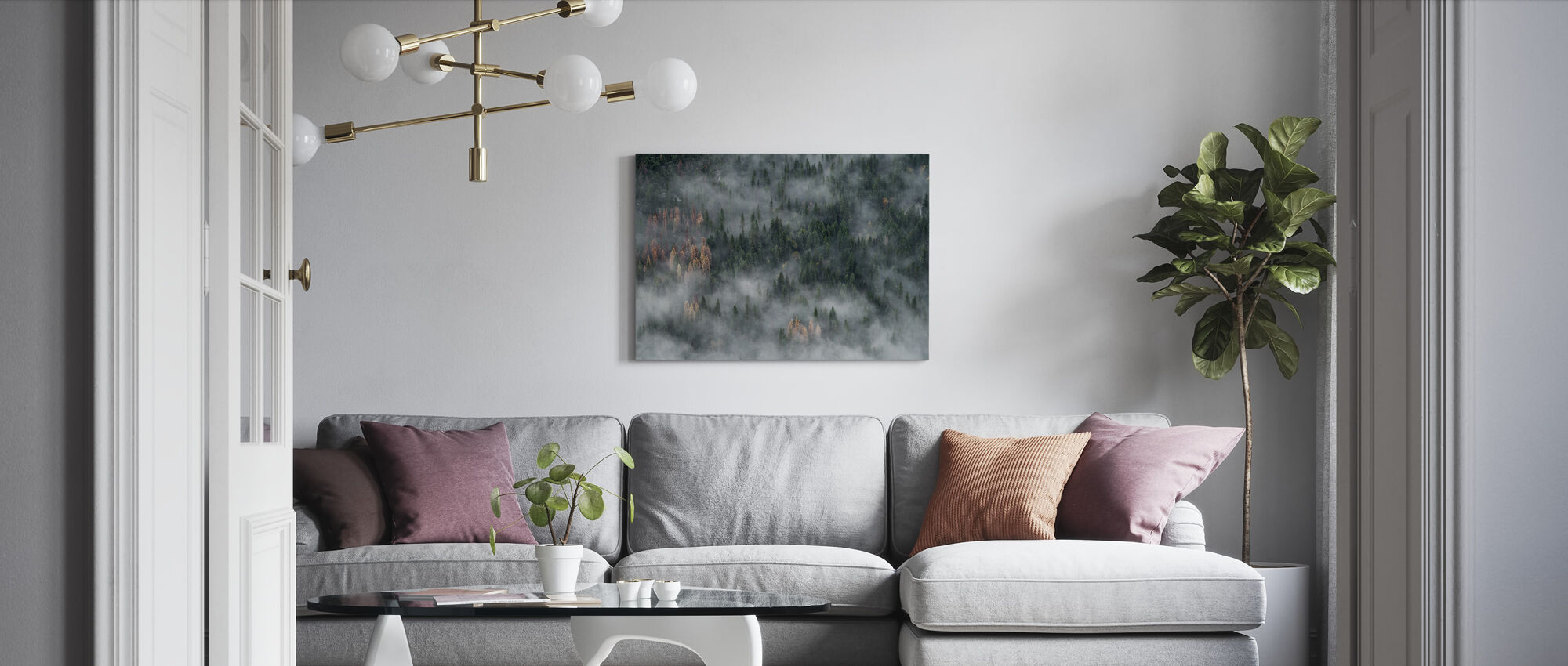 Pine Trees Forest - Canvas print - Living Room