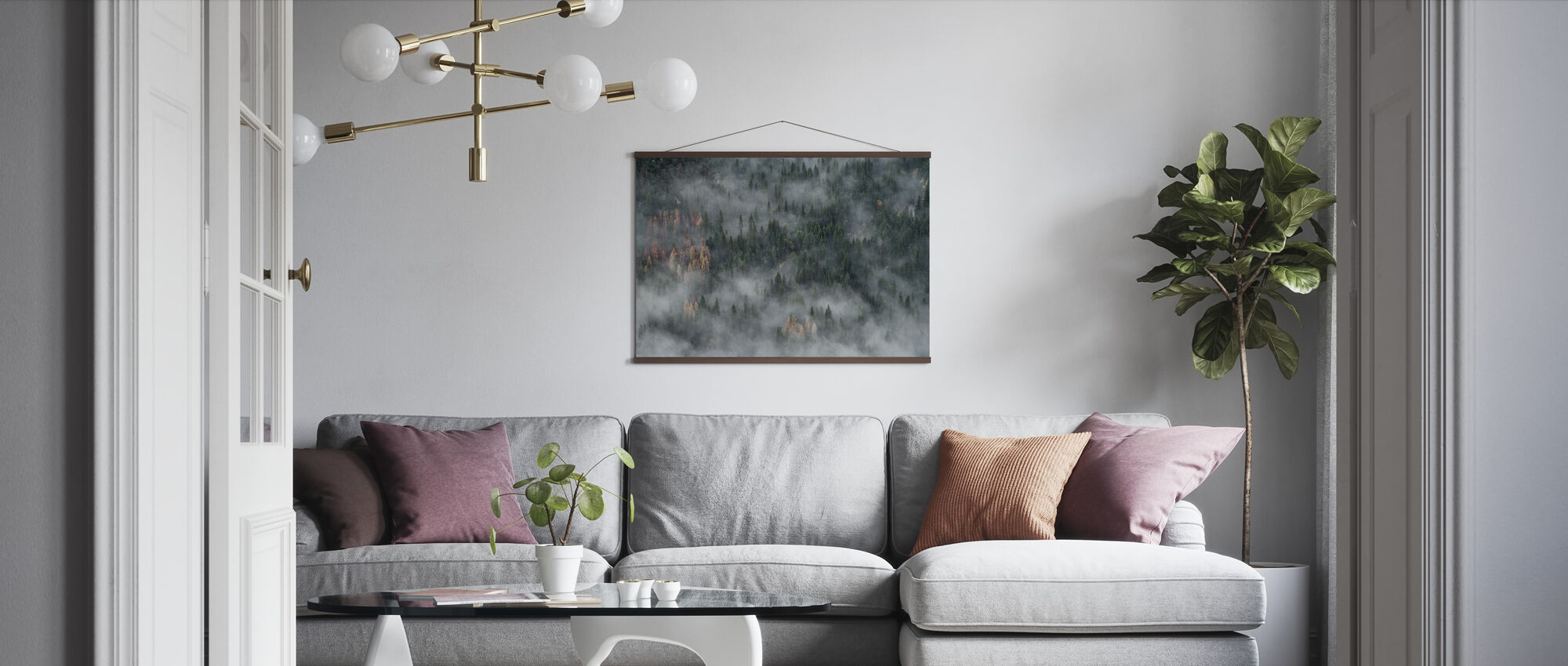 Pine Trees Forest - Poster - Living Room