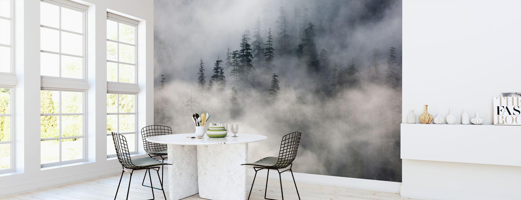 Mgła leśna - Tapeta - Kuchnia