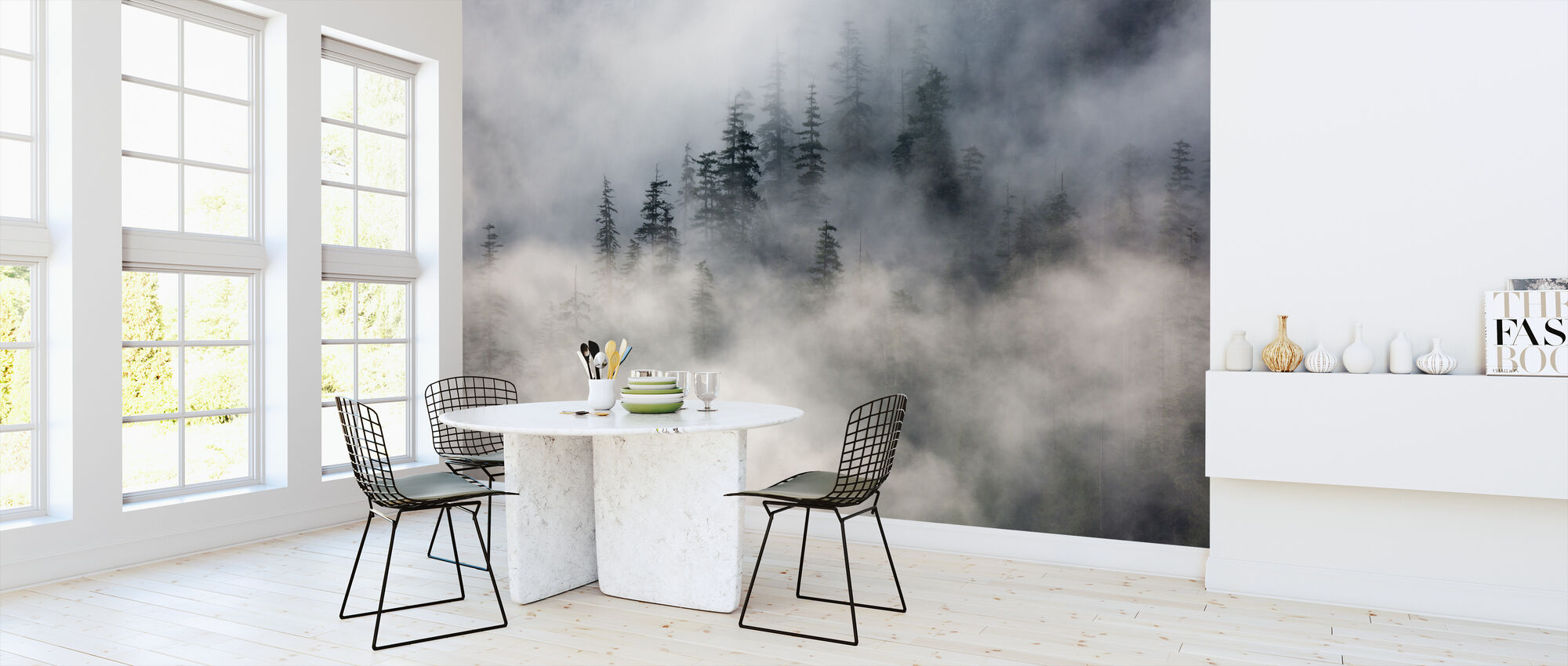 Forest Fog - Wallpaper - Kitchen