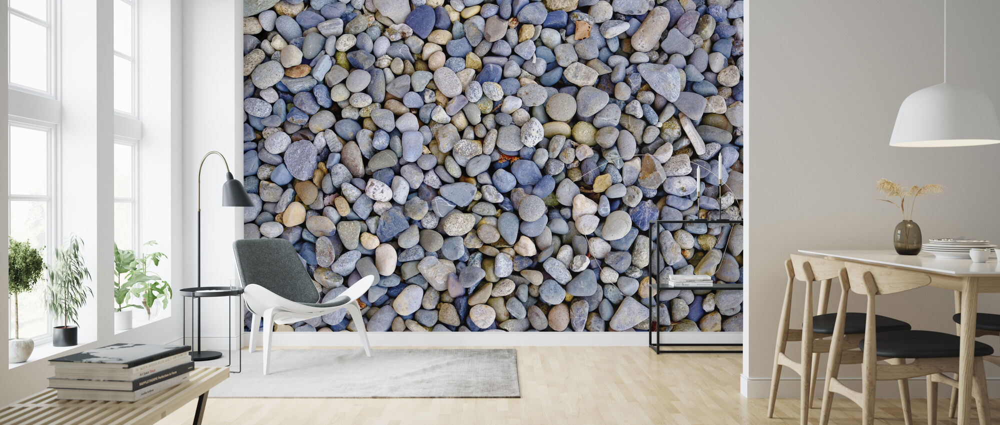 Colorful Pebbles - Wallpaper - Living Room
