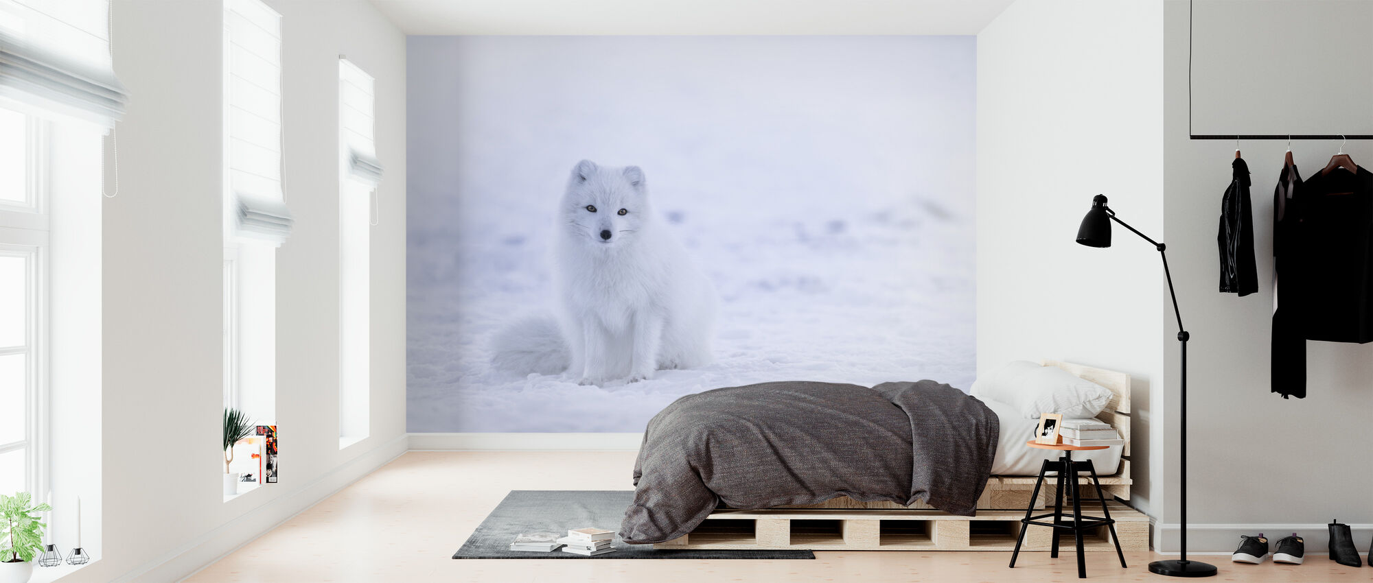 Artic Fox - Behang - Slaapkamer
