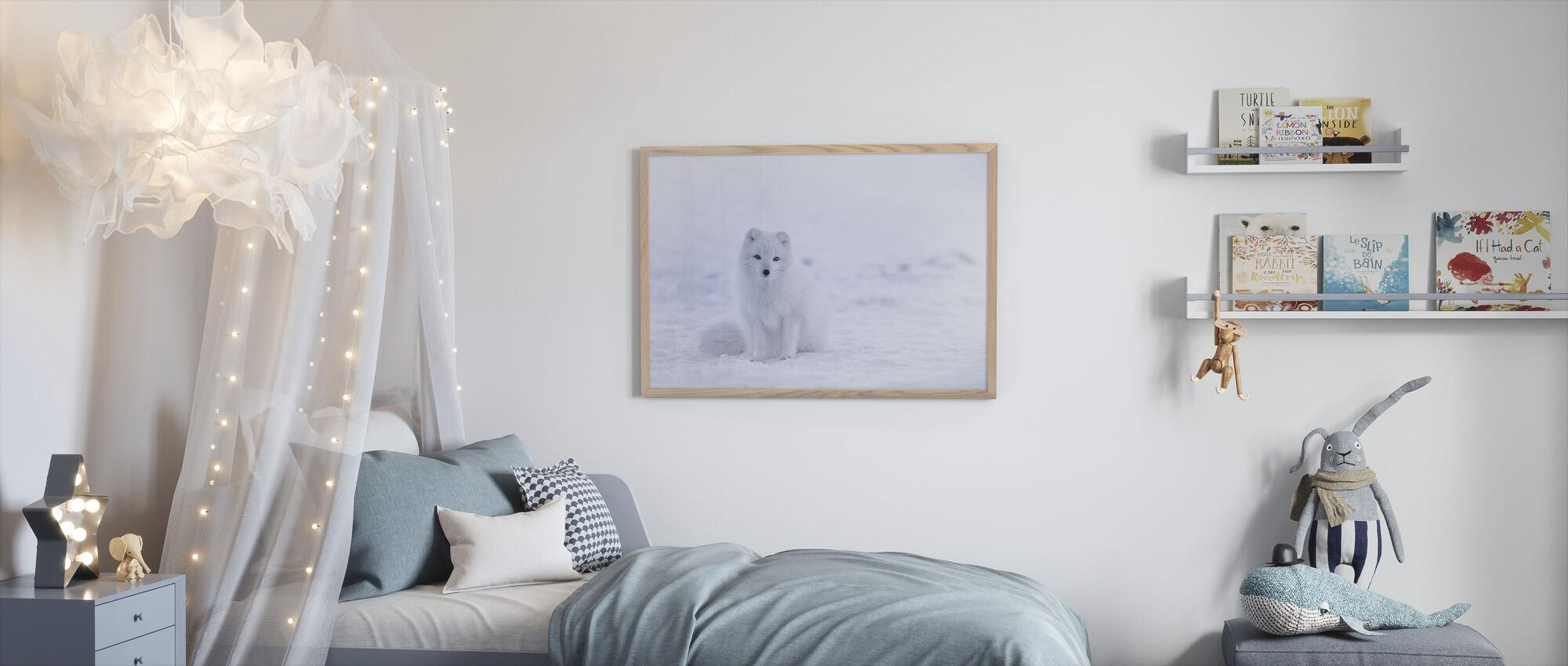 Artic Fox - Framed print - Kids Room
