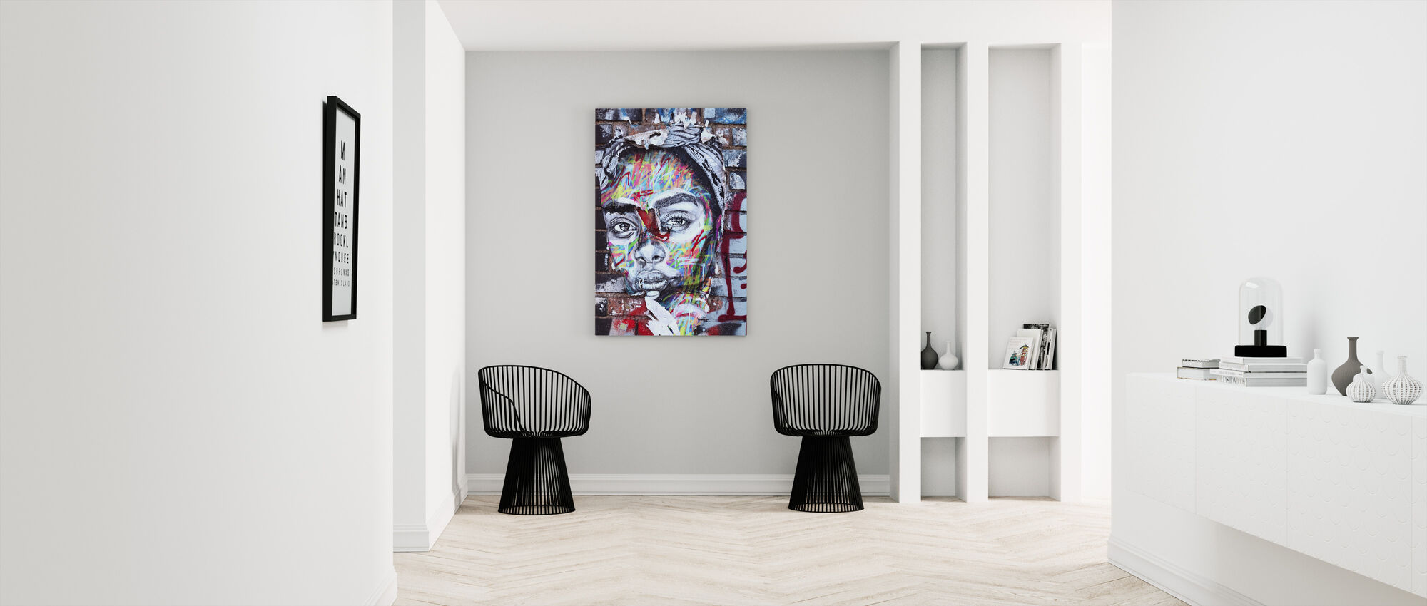 Straat Art Portret - Canvas print - Gang